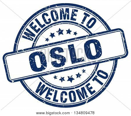 welcome to Oslo stamp. welcome to Oslo.