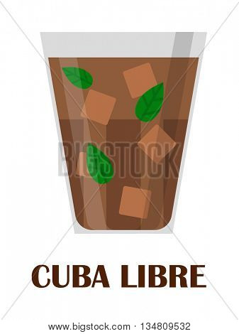 Cuba libre vector illustration.