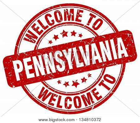 welcome to Pennsylvania stamp. welcome to Pennsylvania.