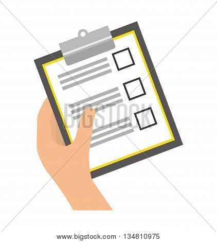 Document concept represented by check list  icon over flat and isolated design