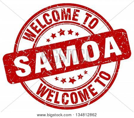 welcome to Samoa stamp. welcome to Samoa.