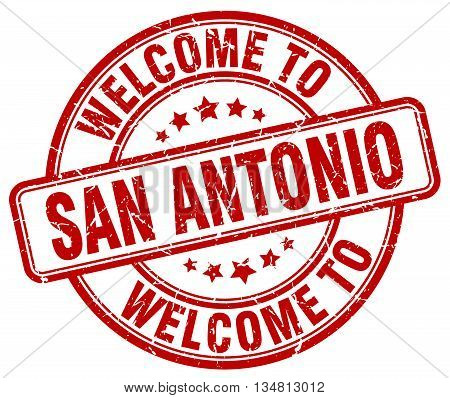 welcome to San Antonio stamp. welcome to San Antonio.