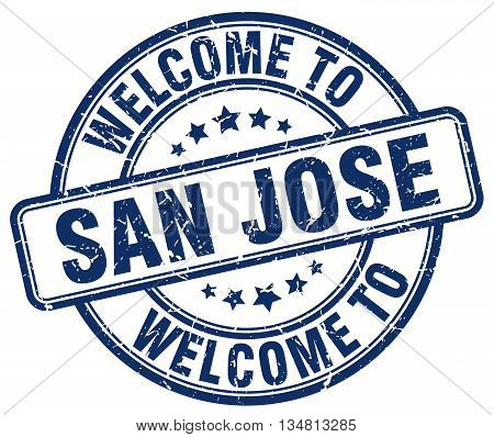 welcome to San Jose stamp. welcome to San Jose.