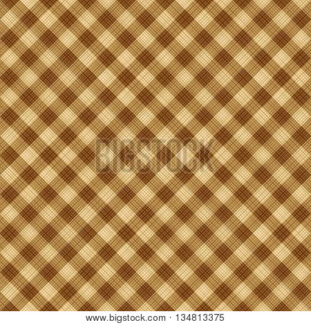 Seamless (you see 4 tiles) tan and brown diagonal gingham background