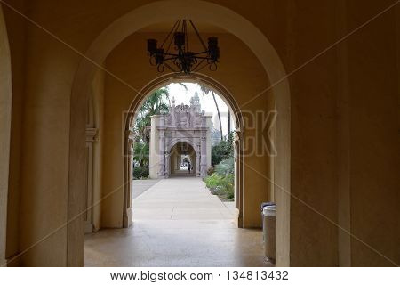 Outside Corridor in San Diego Balboa Park
