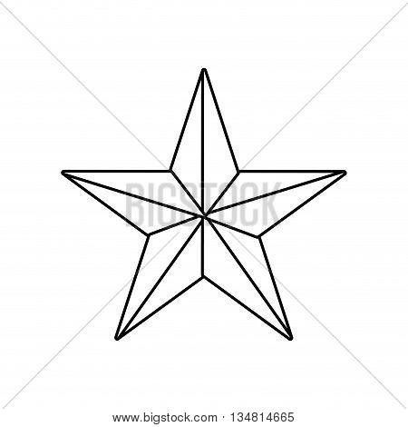 success concept represented by star shape of five points over flat and isolated design