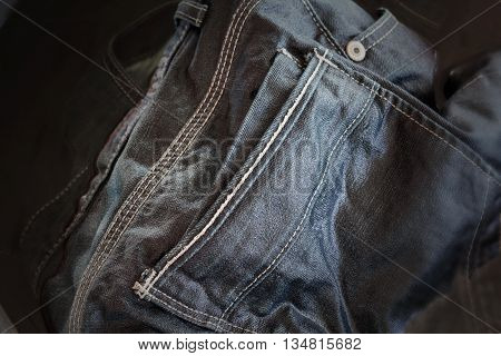 Denim Jeans Soak In Water, Simply Wash Or Clean Jeans In Dim Light Dark Tone Colour