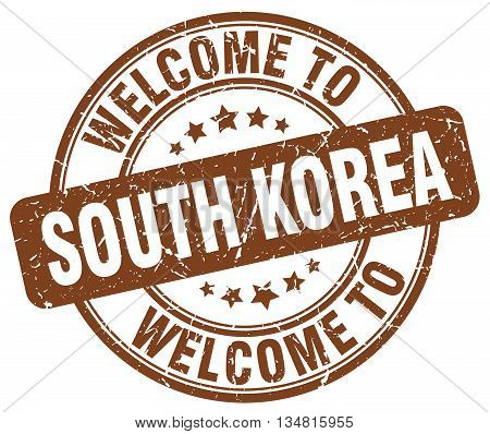 welcome to South Korea stamp. welcome to South Korea.