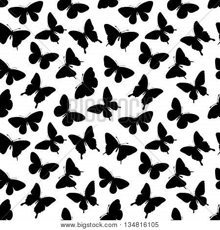 Beautiful seamless background with butterflies silhouettes. Perfect for background greeting cards and invitations of the wedding birthday Valentine's Day