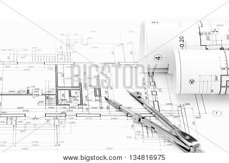Architectural Drawings With House Plan