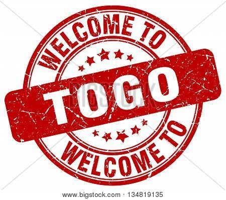 welcome to Togo stamp. welcome to Togo.