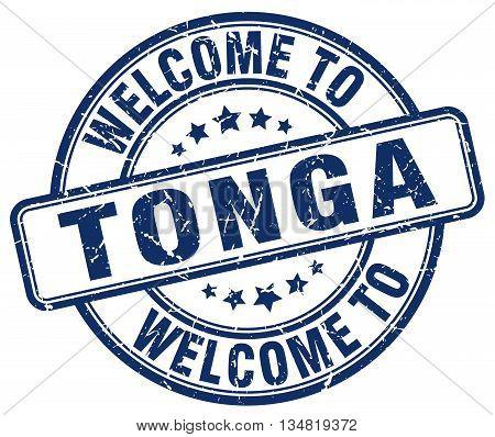 welcome to Tonga stamp. welcome to Tonga.