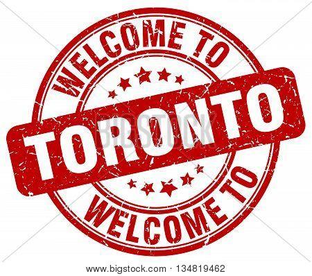 welcome to Toronto stamp. welcome to Toronto.