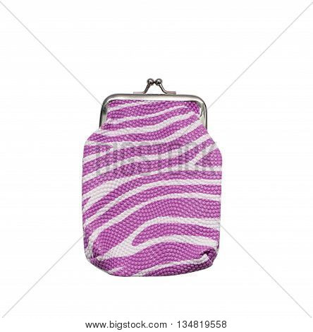 The purse isolated on white background. purple color