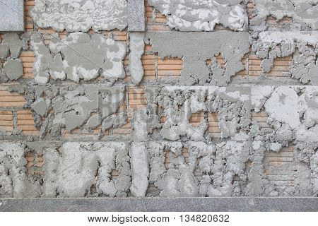 The texture of uneven cement wall background