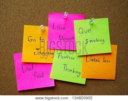 Post it note for healthy in my life