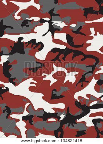 Camouflage pattern background. Woodland style. camo illustration