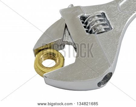 socket wrench tools on the white background