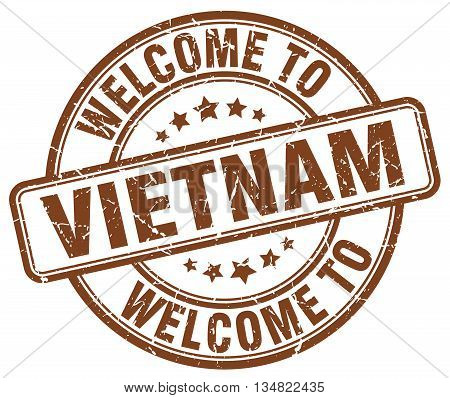 welcome to Vietnam stamp. welcome to Vietnam.