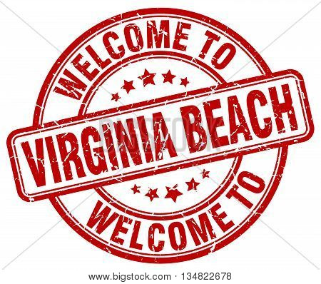 welcome to Virginia Beach stamp. welcome to Virginia Beach.