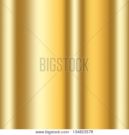 Gold texture. Golden gradient smooth material background. Textured bright metal with light shiny. Metallic blank backdrop decorative pattern. Abstract art for banner invitation. Vector Illustration.