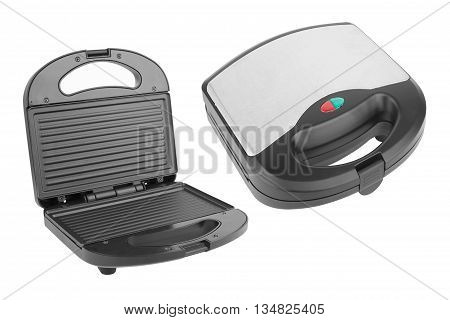 electric grill or toaster isolated on white background