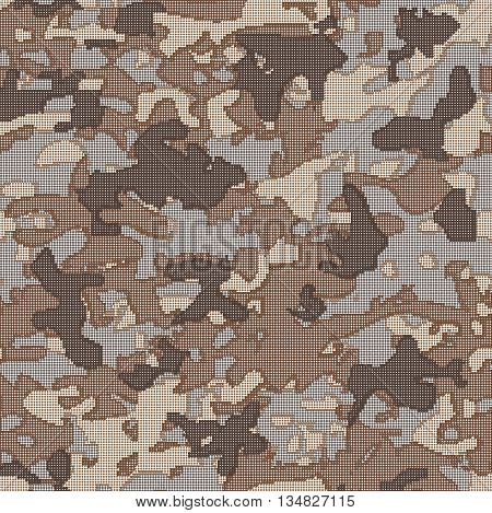 Military camouflage. Pattern on the fabric. Stock vector illustration.