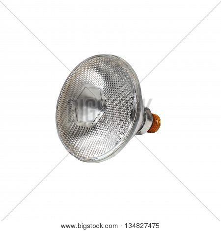 Light bulb isolated on white background, lightbulb creative  technology