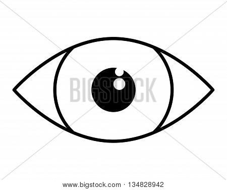 Security system and protection represented by cctv eye icon over flat and isolated background