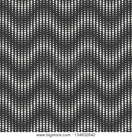 Geometric abstract chevron zigzag stripes pattern. Wrapping paper. Scrapbook paper. Vector illustration. Background. Graphic texture with randomly disposed spots. Dotted chevrons. Circles.