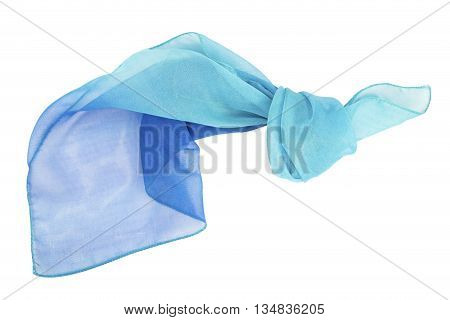 The blue scarf isolated on white background