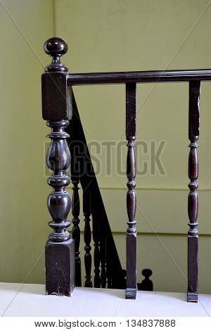 Old Vintage Railing at staircase in a house