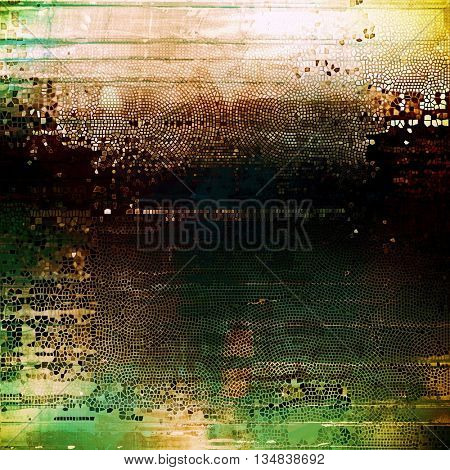 Retro colorful background or creative old style texture with different color patterns: yellow (beige); brown; green; gray; black