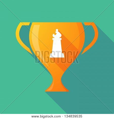 Long Shadow Award Cup Icon With A Bishop    Chess Figure