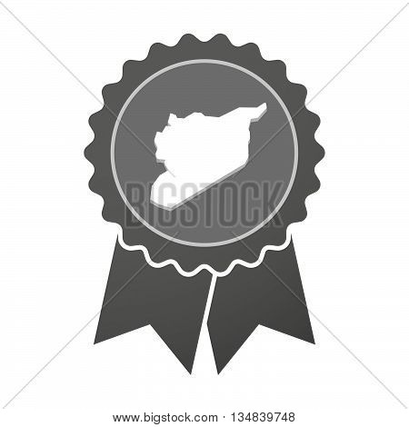 Isolated Award Badge With  The Map Of Syria