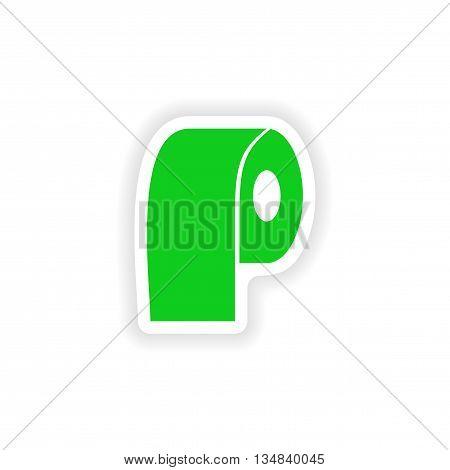 icon sticker realistic design on paper lavatory paper