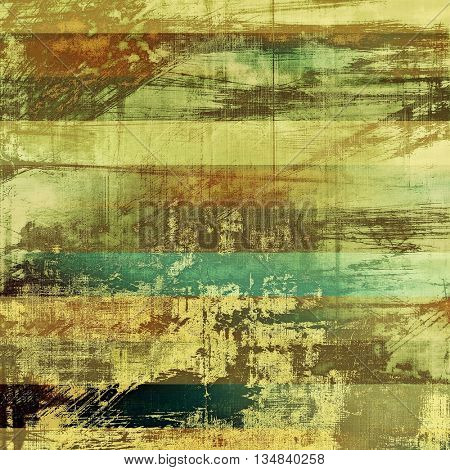 Old background with grunge decorative elements. Retro composition for your design. With different color patterns: yellow (beige); brown; green; blue; gray; cyan