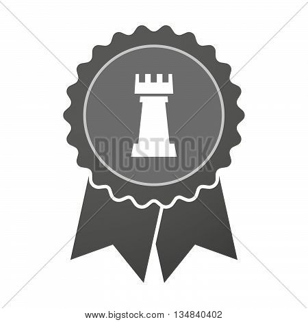 Isolated Award Badge With A  Rook   Chess Figure