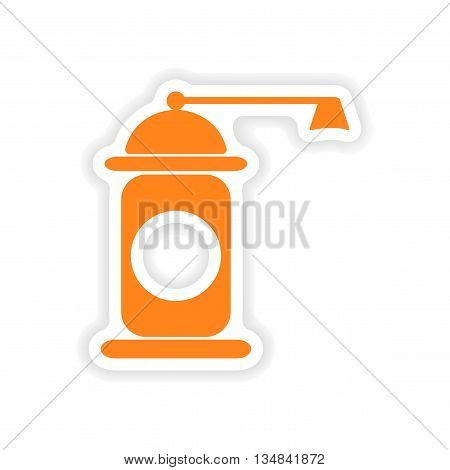 icon sticker realistic design on paper pepper mill