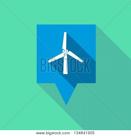 Long Tooltip Icon With A Wind Turbine