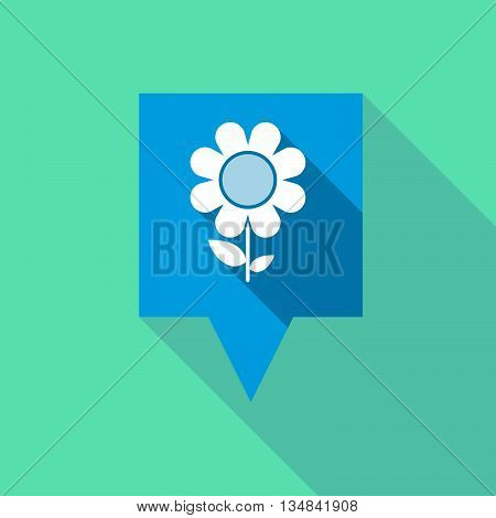 Long Tooltip Icon With A Flower