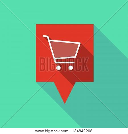 Long Tooltip Icon With A Shopping Cart