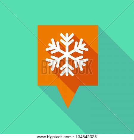 Long Tooltip Icon With A Snow Flake
