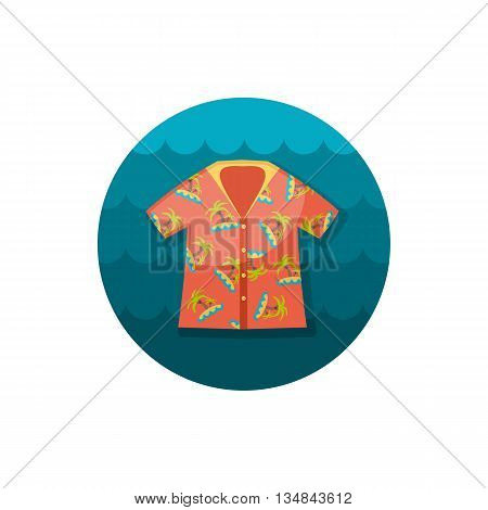 Hawaiian Shirt with palm tree vector icon. Beach. Summer. Summertime. Holiday. Vacation eps 10