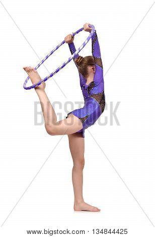 Girl Gymnast With Hoop
