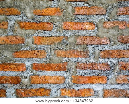 old red brick wall texture, for backgrond