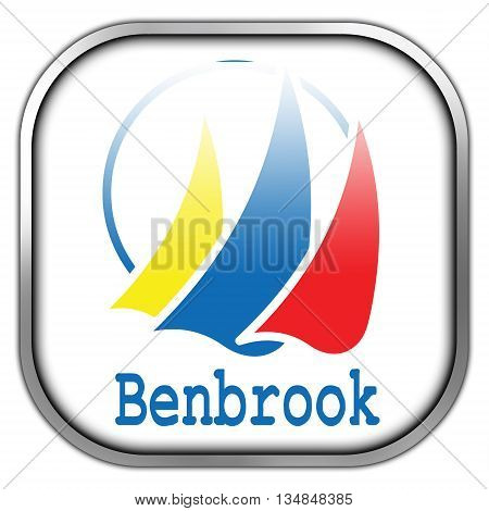 Flag Of Benbrook, Texas, Square Glossy Button