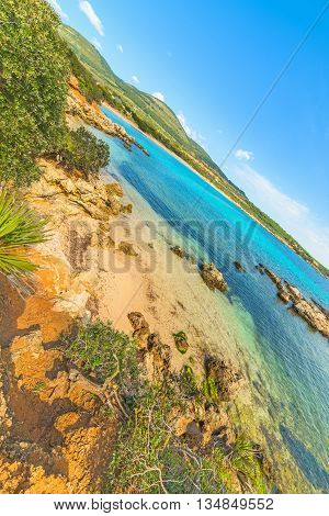 a small hidden cove in Sardinia Italy