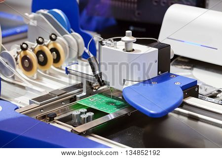 Production Line Of Microchips