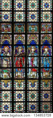 Stained Glass - Four Orthodox Church Fathers